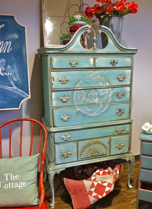Highboy chest in Annie Sloan Chalk Paint